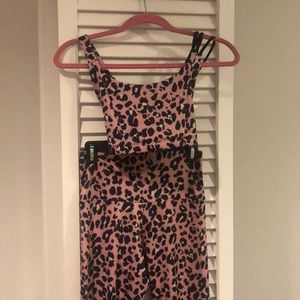 Onzie Rose Leopard Sports Bra and Pants